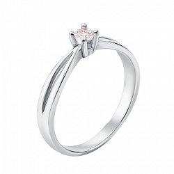 Помолвочное кольцо из белого золота с кристаллом Swarovski 000132779