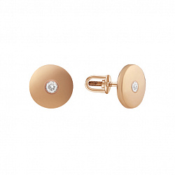 Золотые серьги-пуссеты Ингрид с бриллиантами