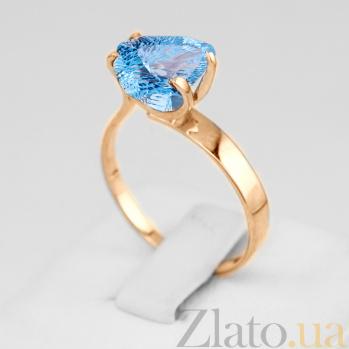 Золотое кольцо с голубым топазом Сандра VLN--112-472-1