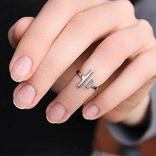 Серебряное фаланговое кольцо Противостояние в стиле Тиффани
