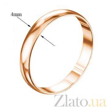 Обручальное кольцо из красного золота Классический стиль 000007373