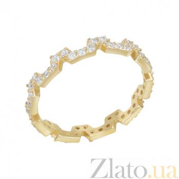 Золотое кольцо в желтом цвете с фианитами Форджа 000023230
