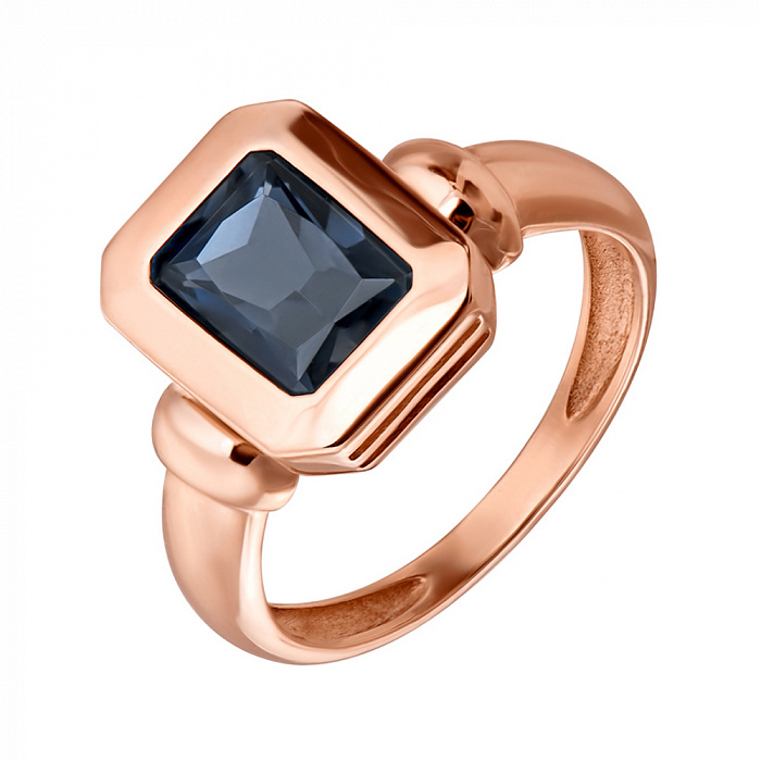 Кольцо в красном золоте Шарлотта с лондон топазом 000082778