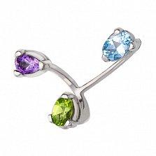 Серебряное кольцо Спектр