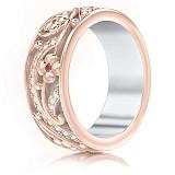 Обручальное кольцо из розового золота Восторг: Ласковый рассвет