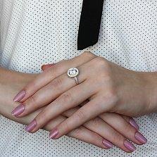 Серебряное кольцо Кристалл с прозрачными фианитами
