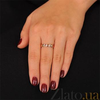 Золотое кольцо с бриллиантами Песня нимфы EDM--КД7382