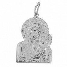 Ладанка из серебра Божья Матерь