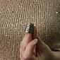 Серебряный наперсток Анжелика 1304/к