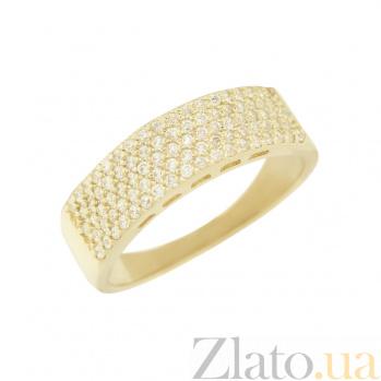 Кольцо из желтого золота с фианитами Вида 2К220-0291