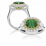 Кольцо Argile-Z с турмалином, желтыми сапфирами и бриллиантами