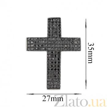 Золотой крестик с бриллиантами Ночное небо 000026793