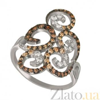 Кольцо из белого золота с цирконием Актриса VLT--ТТТ1172