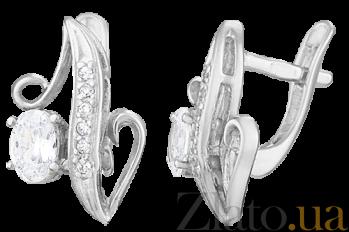Серебряные серьги с цирконием Долорес SLX--С2Ф/103