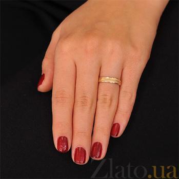 Золотое обручальное кольцо Мелодия нежности 000001681