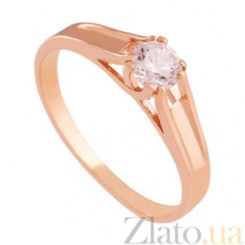 Золотое кольцо с фианитом Трогательное признание VLN--212-815