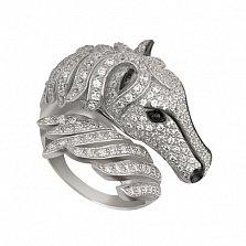Золотое кольцо Пегас с фианитами