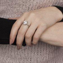 Золотое кольцо Незабвенная в белом цвете с лейкосапфиром