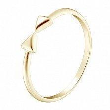 Кольцо в желтом золоте Бантик