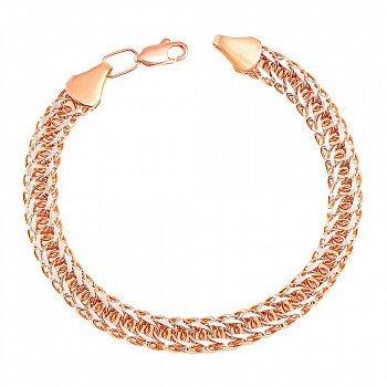 Золотой браслет в комбинированном цвете 000133078