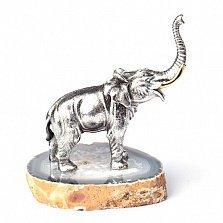 Серебряная статуэтка с позолотой Слон