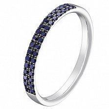 Золотое кольцо Легкий путь с сапфирами