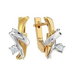 Золотые серьги Карамия с бриллиантами