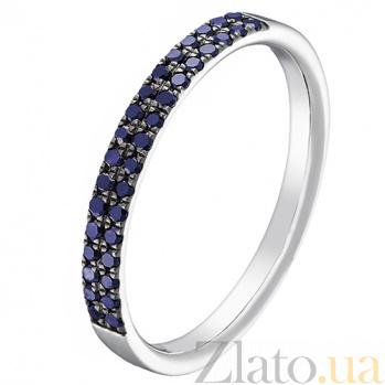 Золотое кольцо Легкий путь с сапфирами 000043311