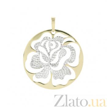 Золотой подвес Чайная роза 2П088-0124