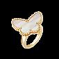 Перламутровое кольцо из желтого золота с бабочкой Alhambra R-VCA-Algamra-E-nacre(W)-