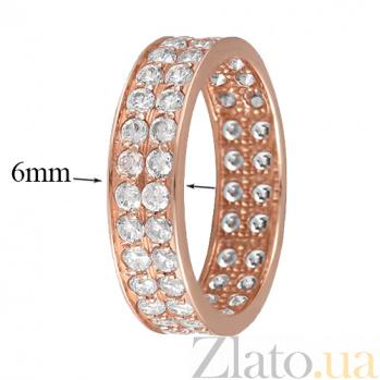 Золотое кольцо с усыпкой фианитов Анталия 000022931