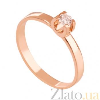 Золотое кольцо с фианитом Благородство VLN--212-1493