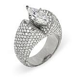Кольцо из белого золота с бриллиантами Джиллиан