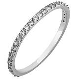Золотое кольцо Альвента из белого золота с фианитами