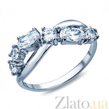 Серебряное кольцо с фианитами Аделия 000026974