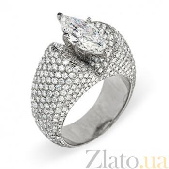 Кольцо из белого золота с бриллиантами Джиллиан R050