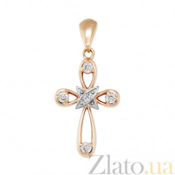 Золотой крестик Обет с бриллиантами VLA--30070