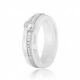 Керамическое кольцо с фианитами Эклектика