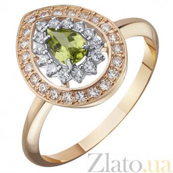 Золотое кольцо с хризолитом Виконтесса AUR--31768 07