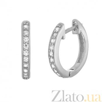 Серебряные серьги с цирконием Хейзел SLX--С2Ф/400