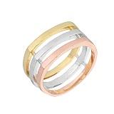 Серебряное кольцо с позолотой Амалия
