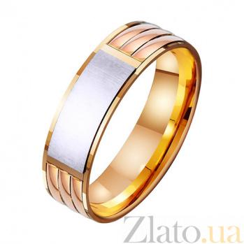 Золотое обручальное кольцо Стильный образ TRF--411372