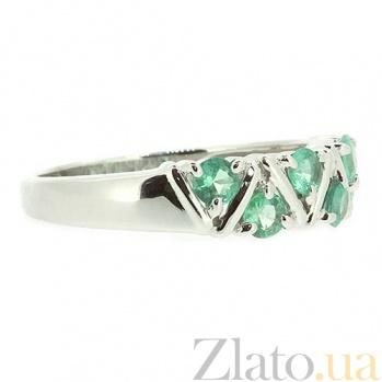 Серебряное кольцо с изумрудами Иоланта ZMX--RE-32792-Ag_K
