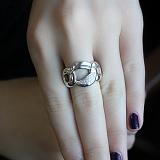 Серебряное кольцо с бриллиантами Дианора