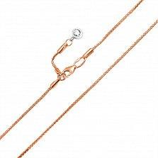 Золотой браслет на ногу Искорка в комбинированном цвете с цирконием
