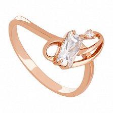 Золотое кольцо Миранда с фианитами