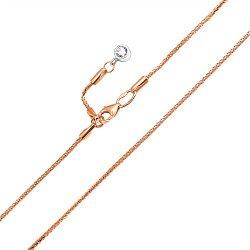 Золотой браслет на ногу в комбинированном цвете с цирконием, 1мм 000121662