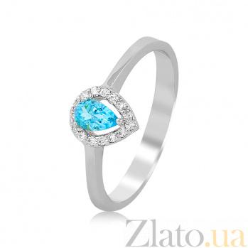 Золотое кольцо с топазом и бриллиантами Лейли EDM--КД7553/1ТОПАЗ