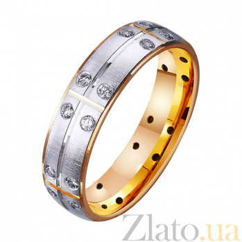 Золотое обручальное кольцо Матадор с фианитами TRF--412215