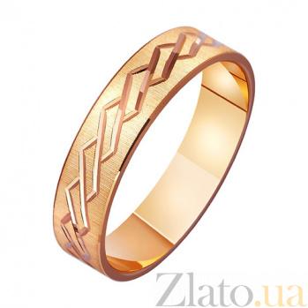 Золотое обручальное кольцо Сплетение судеб TRF--411187